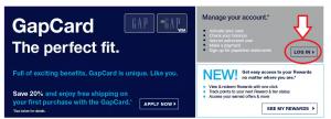 www.GAP.com Credit Card Login