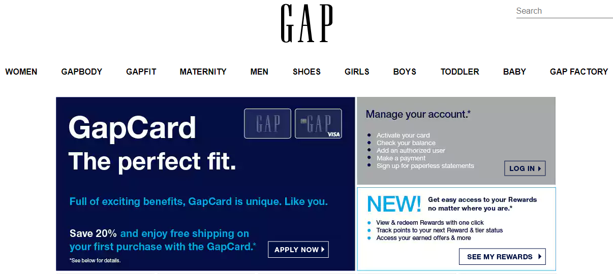 Go to the Gap card-member account services website (see Resources). Step. Click