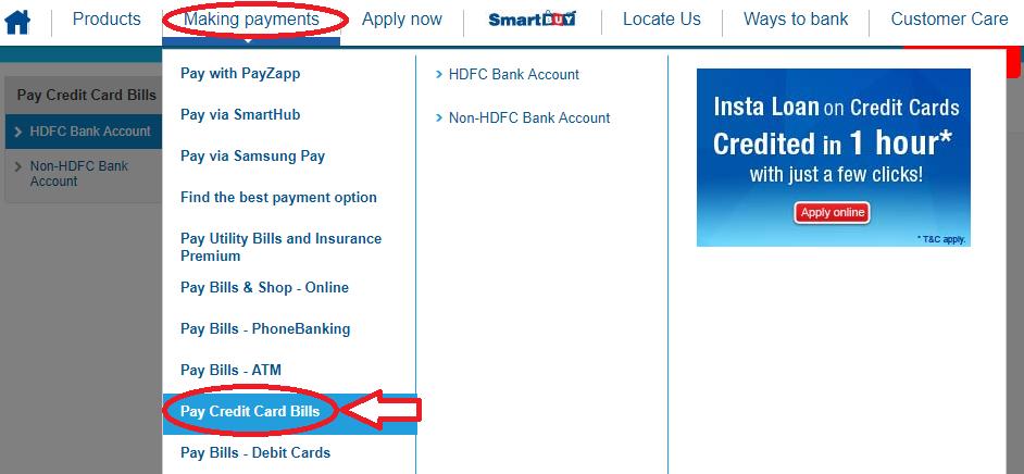 www.HDFCBank.com HDFC Pay My Bill