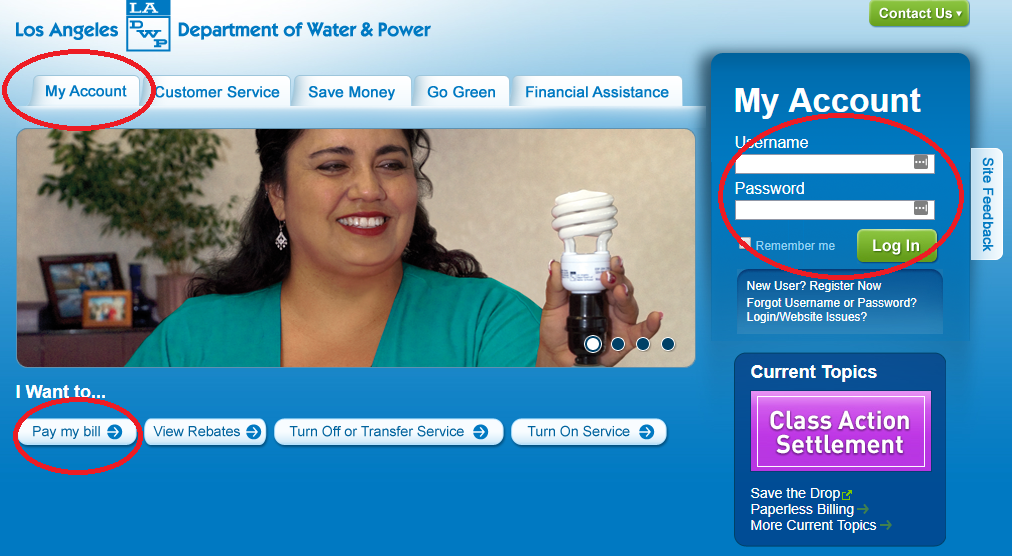 www.LADWP.com Pay My Bill