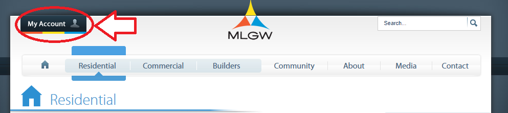 www.MLGW.com My Account