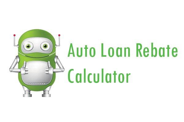 auto loan rebate calculator