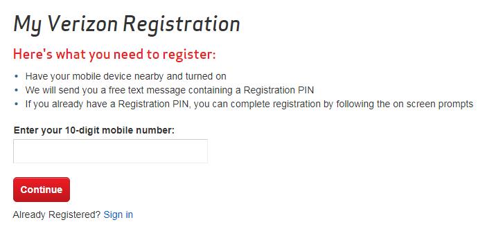 Login.VerizonWireless.com Registration