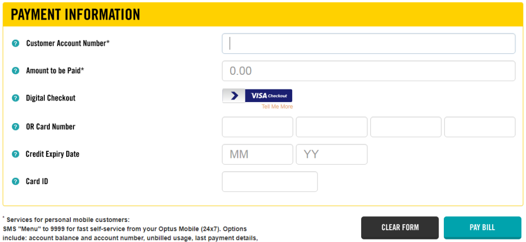 www.Secure.Optus.com Payment