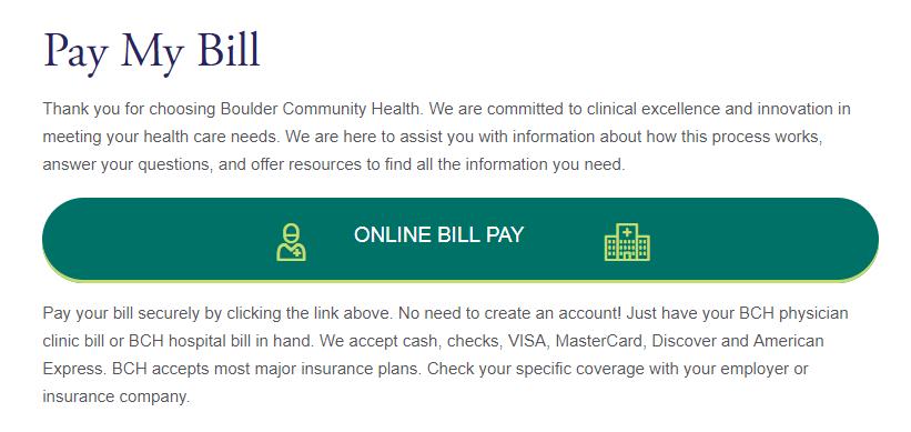 www.BCH.org Online Bill Pay