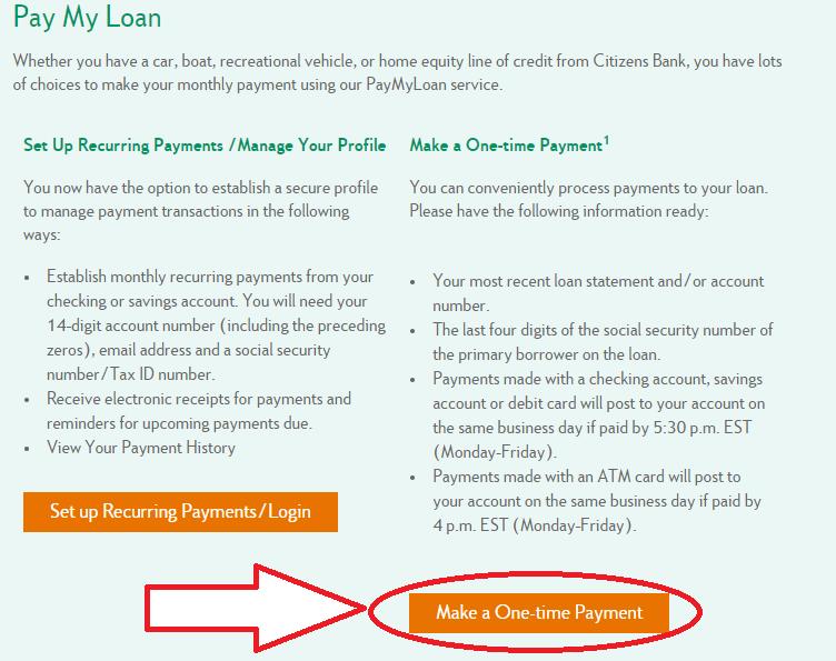 www.CitizensBank.com Pay My Loan