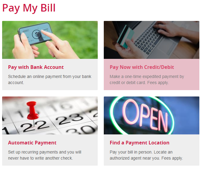 www.ComEd.com Pay My Bill Options