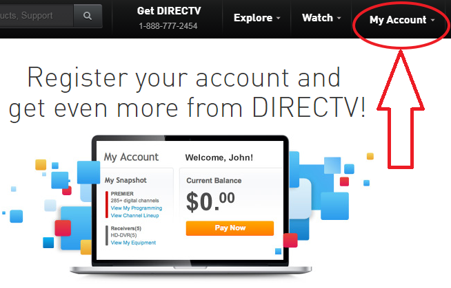 www.DirecTV.com Account