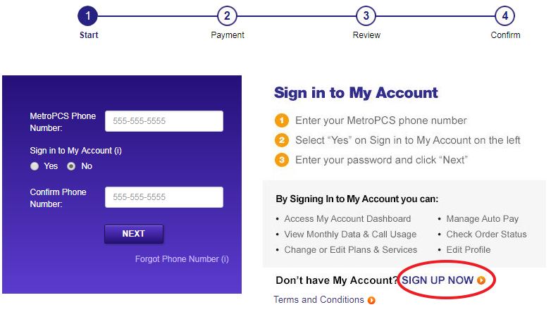 www.MetroPCS.com Sign Up