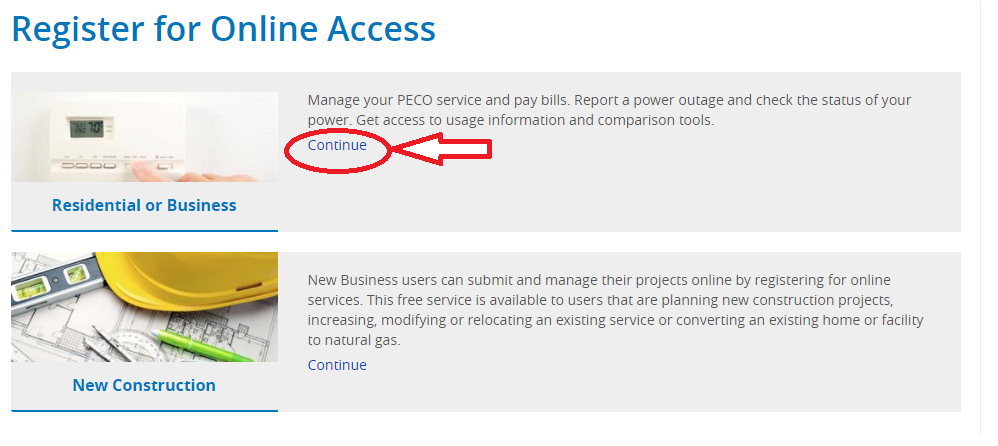 www.PECO.com User Registration