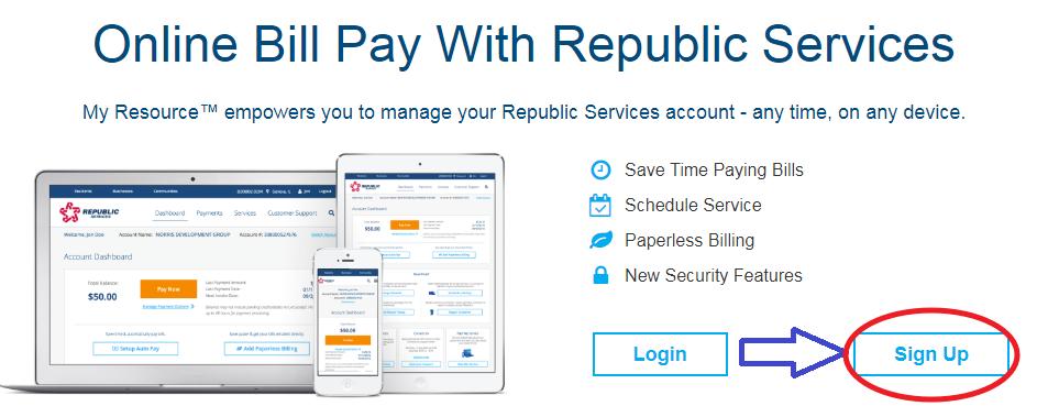 www.RepublicServices.com Sign Up