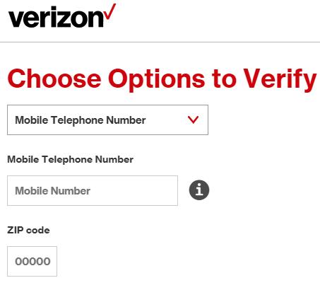 www.Verizon.com Create Account