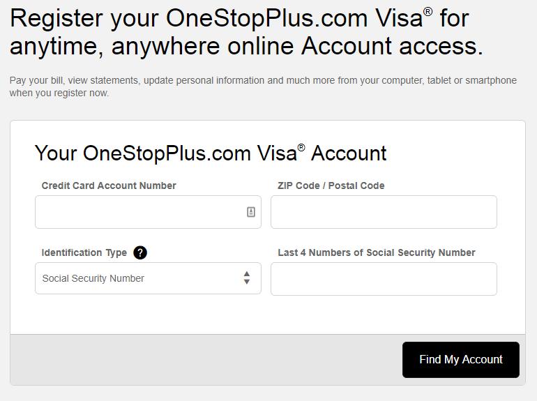 Comenity.Net OneStopPlus Card Registration