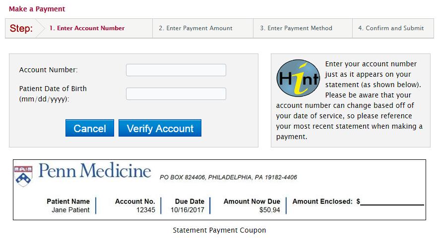 PennMedBill.Com Quick Payment