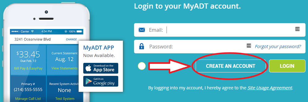 www.MyADT.com Create Account
