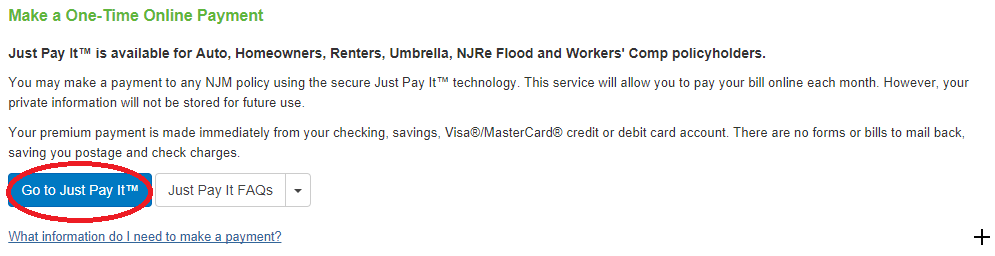 www.NJM.com One-Time Payment