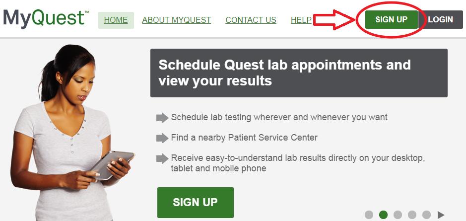 MyQuest.QuestDiagnostics.com Sign Up
