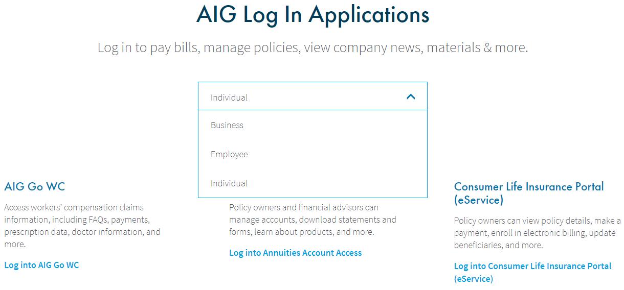 www.AIG.com Login