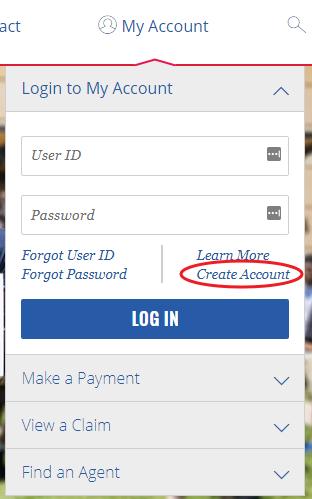 www.AmFam.com Create Account