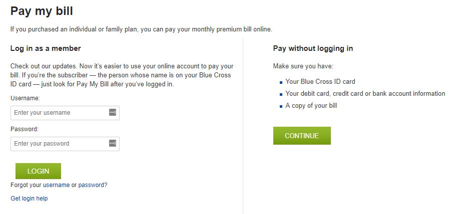 www.BCBSM.com Payment