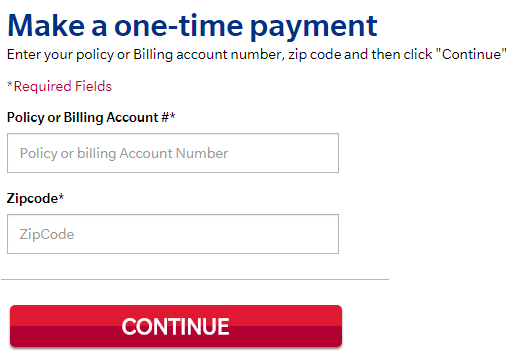 www.Farmers.com One Time Payment