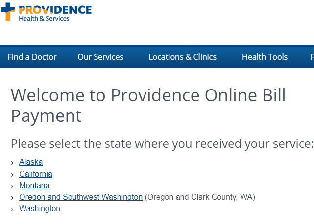 www.Providence.org Bill Payment
