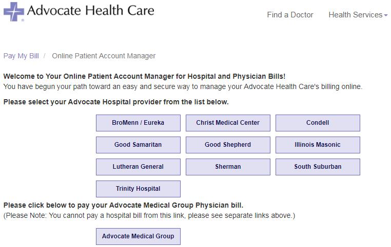 Advocate.PatientCompass.com Portal