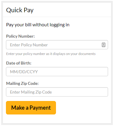 My.DairylandInsurance.com Quick Pay