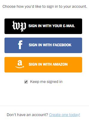 Subscribe.WashingtonPost.com Login
