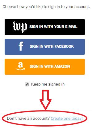 Subscribe.WashingtonPost.com Registration