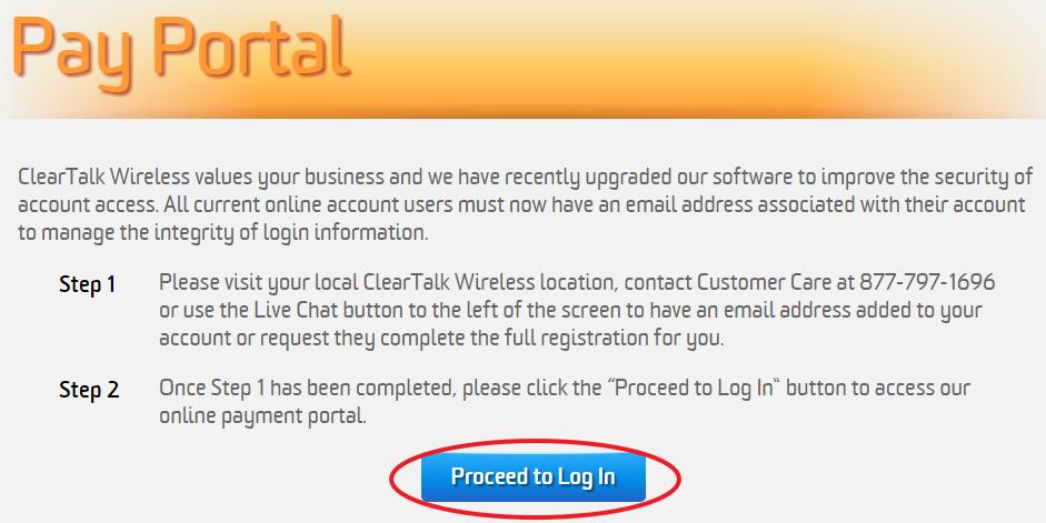 www.ClearTalkWireless.com Pay Portal