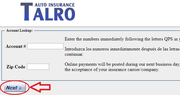Talro.Processmyquote.com Pay Bill