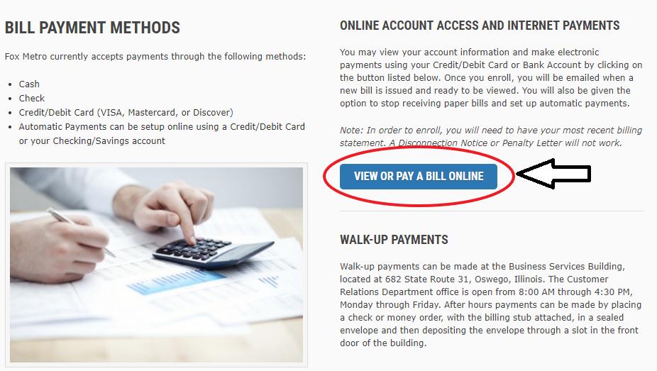 www.FoxMetro.com Payment Methods