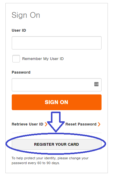 CitiRetailServices.CitiBankOnline.Com Home Depot Sign On