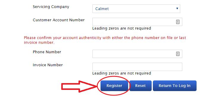 Portal.CalmetServices.com Register