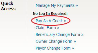 Service.NYLAARP.com Pay As Guest