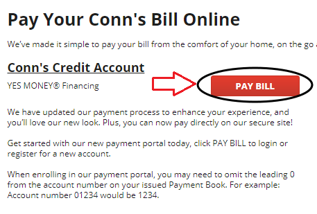 www.Conns.com Pay Your Bill
