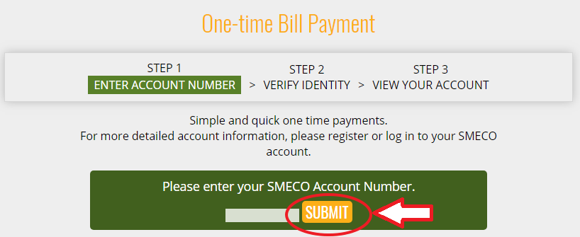 www.SMECO.coop Bill Payment