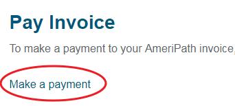 www.AmeriPath.com Pay Invoice