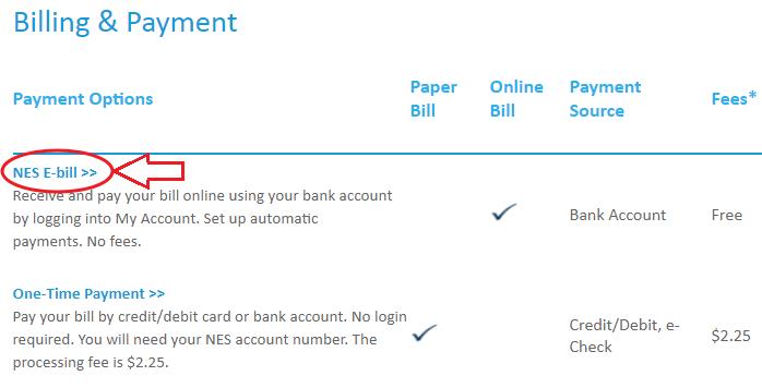 www.NesPower.com Pay My Bill