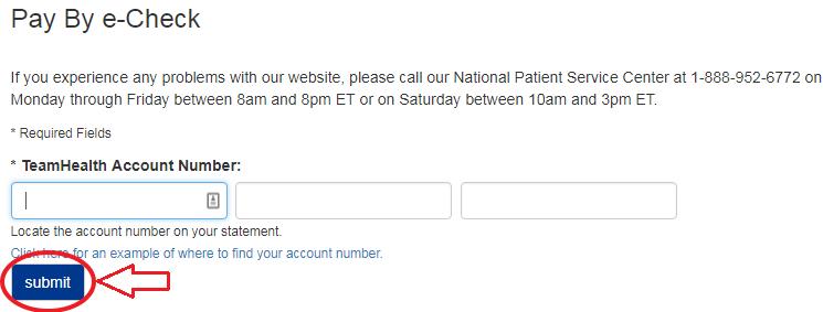 www.THBillPay.com ECheck Account Verification